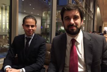 Ministro Tiago Brandão Rodrigues (à dir.) e Hugo Carvalho. Foto: ONU News
