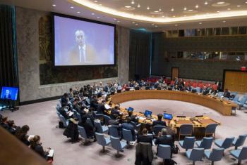 Nickolay Mladenov discursa ao Conselho de Segurança via vídeoconferência. Foto: ONU/Eskinder Debebe