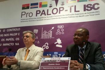 Gabriel Dava disse que discussões e trocas de experiências não passam despercebidas do Pnud. Foto: Amatijane Candé.