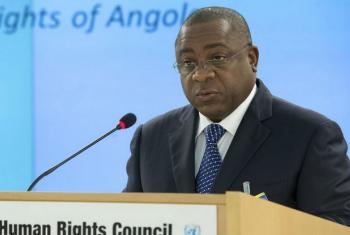 Rui Jorge Carneiro Mangueira durante discurso no Conselho de Direitos Humanos da ONU. Foto: ONU/Jean-Marc Ferré