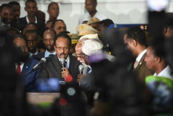 O novo presidente da Somália, Mohamed Abdullahi Farmajo.Foto: ONU/Ilyas Ahmed.