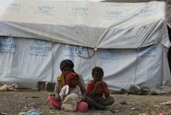 Civis desalojados no Iêmen. Foto: Acnur