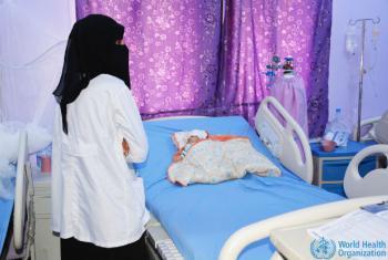 O diretor do Hospital Al-Tharwa, Khaled Suhail, disse haver uma grave falta de medicamentos essenciais e de combustível para garantir que haja eletricidade. Foto: OMS
