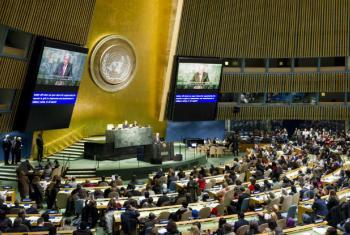 António Guterres em discurso na 61ª Comissão sobre o Estatudo da Mulher.Foto: ONU/Rick Bajornas