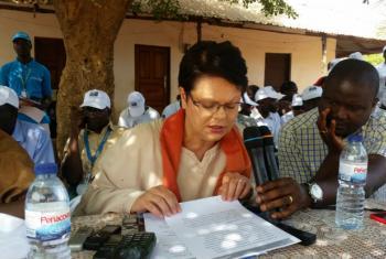 A representante do Unicef Christine Jaulmes. Foto: Rádio ONU/Amatijane Candé