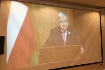 Secretário-geral da ONU, António Guterres, em reunião da Liga Árabe na Jordânia. Foto ONU.