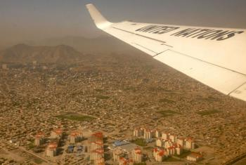Imagem aérea da província de Herat, no Afeganistão. Foto: Unama/ Fardin Waezi