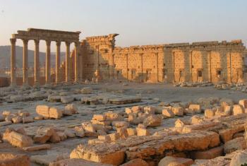 Destruição do partimônio cultural em Palmira, Síria. Foto: Unesco/Francesco Bandarin