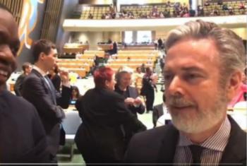 Embaixador Antonio Patriota, presidente da 61ª sessão da CSW fala com exclusividade à ONU News em português. Imagem: reprodução vídeo.