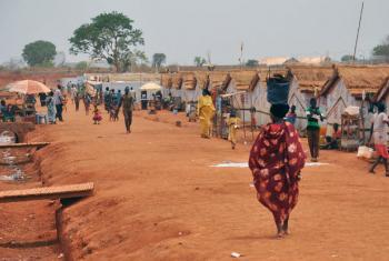 Acampamento para deslocados internos em Wau, no Sudão do Sul. Foto: Ocha/Guiomar Pau Sole