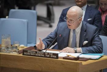 O enviado especial das Nações Unidas para a Síria, Staffan de Mistura.Foto: ONU/Manuel Elias