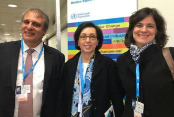 Carlos Sanchez, Maria Nazareth (à esq.) e Nísia Trindade Lima. Foto: ONU News