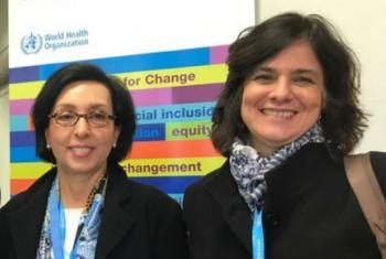 Nísia Trindade Lima (direita) e a Maria Nazareth Farani Azevêdo (esquerda).Foto: ONU News/Edgard Júnior