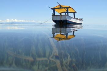 Barco de pesca nas águas do TImor-Leste. Foto: ONU/Martine Perret