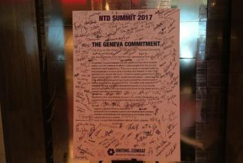 Conferência em Genebra termina com assinatura de compromisso para acabar com DTNs até 2020. Foto: ONU News.