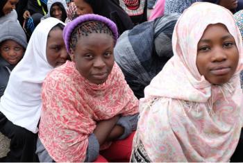 """Centro de detenção de migrantes na Líbia. Foto"""": OIM/ 2017"""