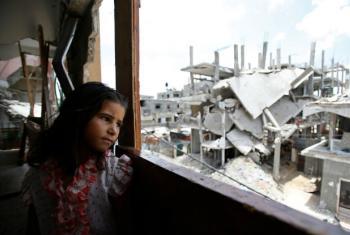 Criança palestina em Gaza. Foto: Unicef