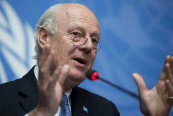 Enviado especial da ONU para a Síria, Staffan de Mistura. Foto: ONU/ Jean-Marc Ferré