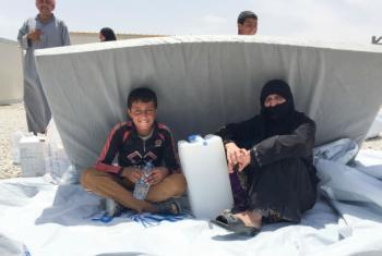 Famílias buscam abrigo no acampamento para deslocados do Acnur, Hasansham U2, perto de Mossul. Foto: Acnur/Caroline Gluck