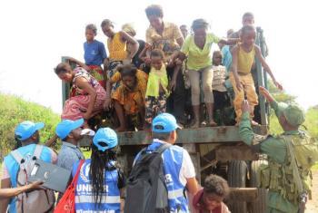 Refugiados congoleses fogiram do conflito de Kassai para Angola. Foto: Acnur/Pumla Rulashe