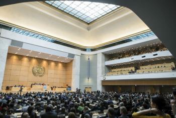 Representantes de todo o mundo participam da 70ª Assembleia Mundial da Saúde, em Genebra. Foto: OMS/L. Cipriani