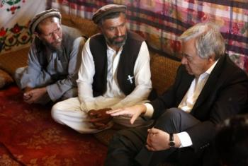 António Guterres nos arredores de Cabul. Foto: Unama.