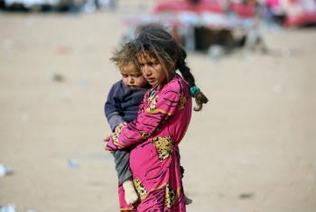 O Unicef está ajudando no processo de reunificação familiar das crianças que se perderam ou foram separadas de seus pais, mães, parentes ou responsáveis. Foto: Unicef/UN037295/Soulaiman