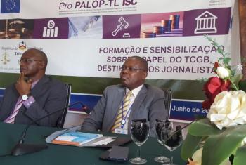 Encerramento do seminário de formação e sensibilização aos jornalistas sobre o papel do Tribunal de Contas.
