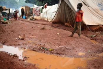 Criança deslocada em Bria, na República Centro-Africana. Foto: Acnur/Cassandra Vinograd