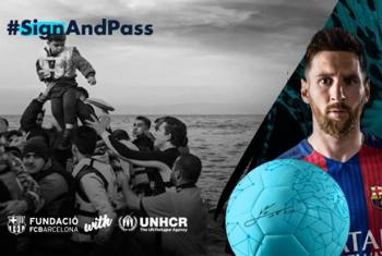 Lionel Messi. Foto: Acnur