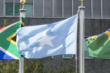 Bandeira da Somália hasteada na sede da ONU, em Nova Iorque. Foto: ONU/Loey Felipe