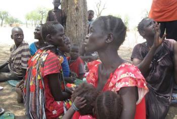 Mulheres e crianças deslocadas no Sudão do Sul. Foto: Acnur/P. Rulashe