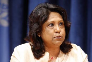 A representante especial do secretário-geral sobre Violência Sexual em Conflito, Pramila Patten. Foto: ONU/Rick Bajornas (arquivo)