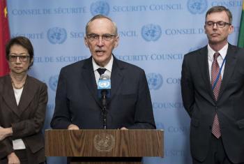 Edmond Mulet em coletiva de imprensa na sede das Nações Unidas, em Nova Iorque. Foto: ONU/ Mark Garten