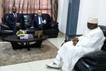 Visita do embaixador do Brasil nas Nações Unidas, Mauro Vieira, à Guiné-Bissau.Foto: ONU News/Amatijane Candé