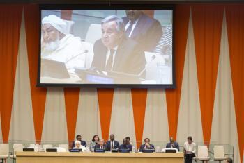 António Guterres participa em reunião na ONU com líderes religiosos de diversas partes do mundo.Foto: ONU/Eskinder Debebe