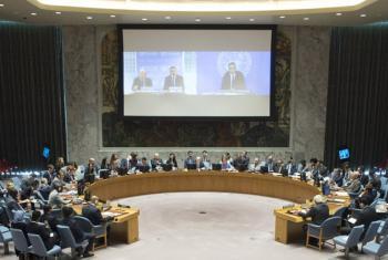 Reunião no Conselho de Segurança na manhã desta quarta-feira. Foto: ONU/Eskinder Debebe