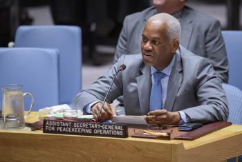 O vice-secretário-geral das Operações de Manutenção da Paz, El Ghassim Wane, fala no Conselho de Segurança. Foto: ONU/Manuel Elias