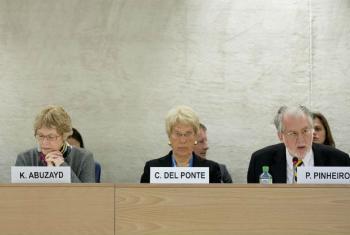 Integrantes daComissão Internacional Independente de Inquérito sobre a Síria. Foto: ONU/Jean-Marc Ferré (arquivo)