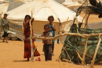 Crianças em um acampamento para refugiados na Mauritânia. Foto: PMA/Justin Smith
