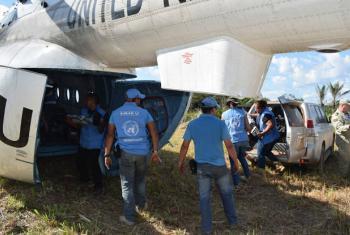 Observadores da ONU removem as mais de 8,112 armas das FARC-EP. Foto: Missão da ONU na Colômbia