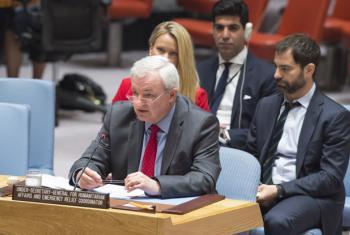 Stephen O'Brien, subsecretário-geral da ONU para Assuntos Humanitários, fala ao Conselho de Segurança em junho. Foto: ONU/Eskinder Debebe