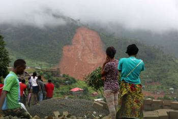 Deslizamentos de terra na Serra Leoa. Foto: Unicef