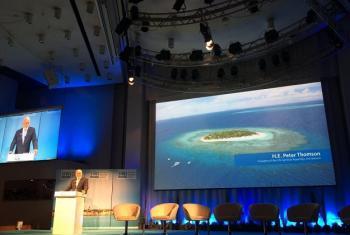 Peter Thomson, presidente da Assembleia Geral da ONU, participa da Semana Mundial da Água 2017. Foto: ONU