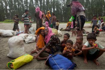 Refugiados rohingya recém-chegados a Cox's Bazar, em Bangladesh. Foto: Unicef/Brown
