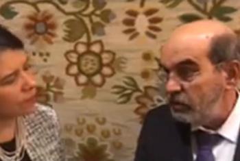 Chefe da FAO, José Graziano da SIlva, em entrevista à ONU News durante a 72ª Assembleia Geral da ONU. Imagem: reprodução vídeo.