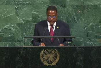 Embaixador de Moçambique junto às Nações Unidas,Antonio Gumende. Imagem: Reprodução vídeo