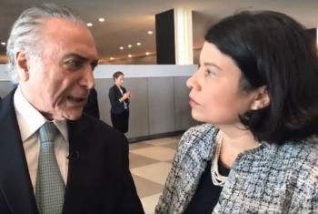Presidente do Brasil, Michel Temer, em entrevista à ONU News após seu discurso na Assembleia Geral da ONU. Imagem: reprodução vídeo.