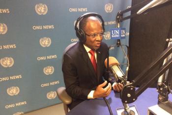 O primeiro-ministro de Cabo Verde, Ulisses Correia e Silva, em entrevista à ONU News. Foto ONU: Eleutério Guevane.