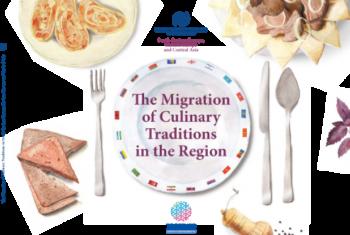 """Livro """"A migração de tradições culinárias da região"""" está disponível gratuitamente na livraria da OIM na internet. Imagem: OIM"""